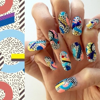 Geometric-print-nails-by-Mei